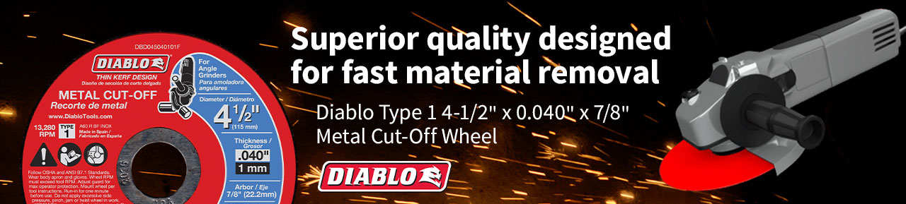 Diablo Metal Cut-off Wheel