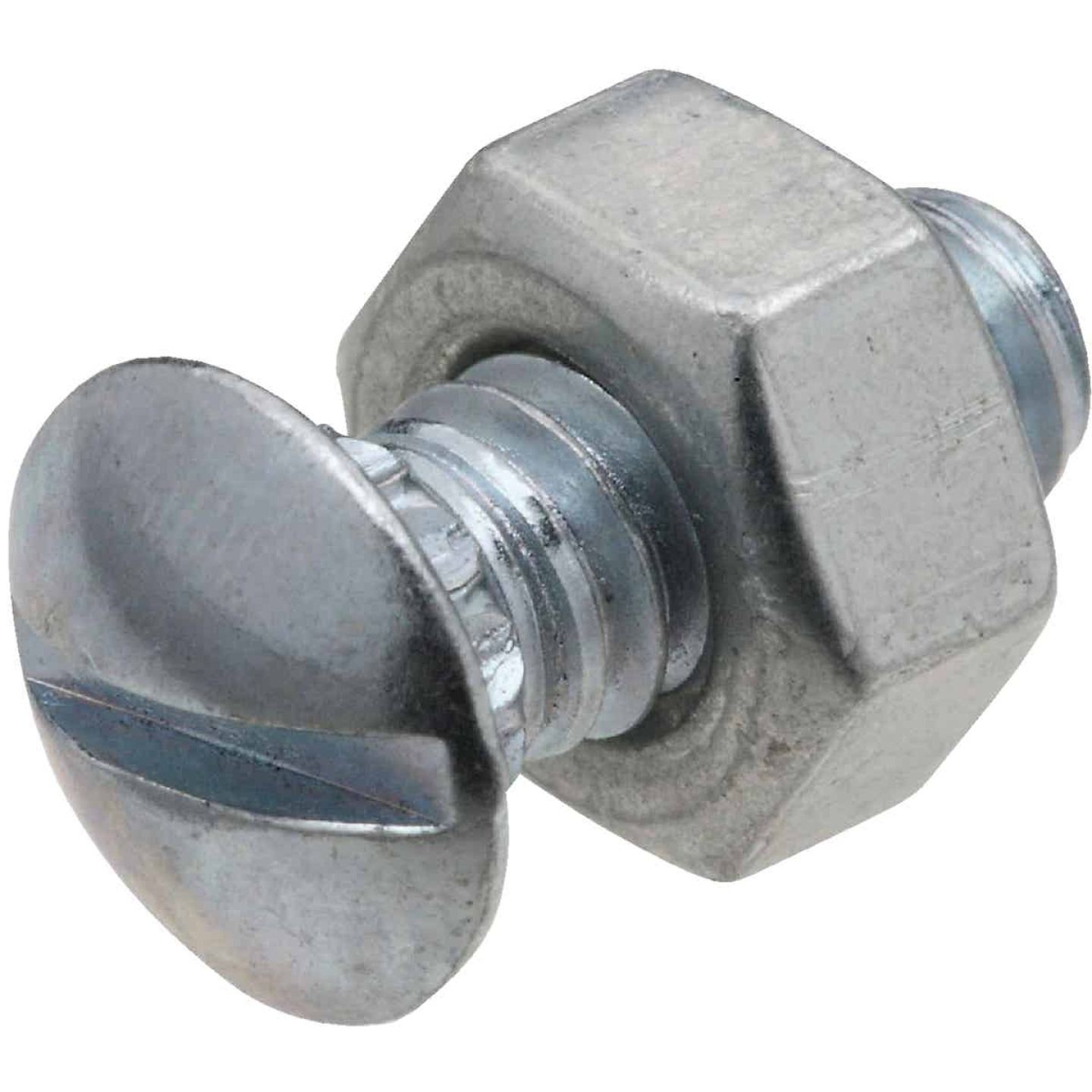 National 1/4 In. x 1/2 In. Zinc Ribbed Neck Bolt & Nut (12 Ct.) Image 1