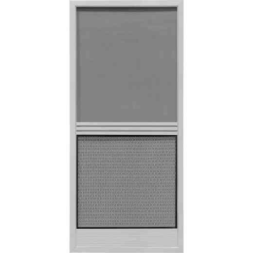 Precision Screen Provencial 36 In. W x 80 In. H x 7/8 In. Thick Gray Steel Screen Door