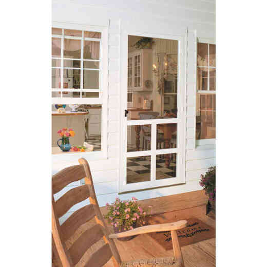 Snavely Kimberly Bay Victoria 36 In. W x 80 In. H x 1 In. Thick White Vinyl Screen Door