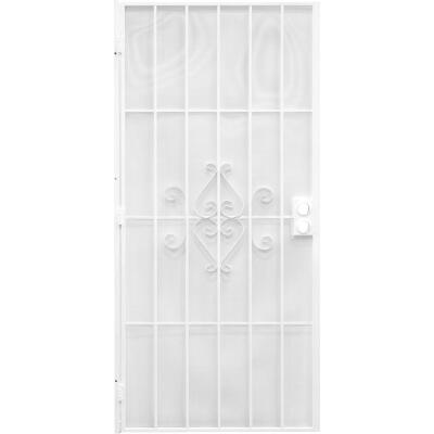Precision Regal 30 In. W. x 80 In. H. White Steel Security Door