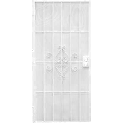Precision Regal 32 In. W. x 80 In. H. White Steel Security Door