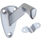 National Satin Chrome Zinc Die-Cast With Steel Strap Handrail Bracket Image 1