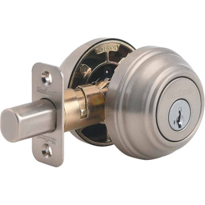 Kwikset Signature Series Satin Nickel Double Cylinder Deadbolt with SmartKey
