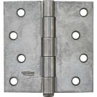 National 4 In. Square Plain Steel Broad Door Hinge Image 2