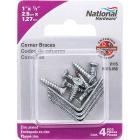 National Catalog V115 1 In. x 1/2 In. Zinc Steel Corner Brace (4-Count) Image 2