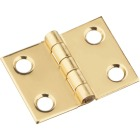 National 3/4 In. x 1 In. Brass Medium Decorative Hinge (2-Pack) Image 1