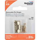 National 1 In. Brass Loose-Pin Narrow Hinge (2-Pack) Image 2