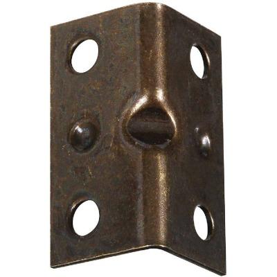 National Catalog V113 Series 1-1/2 In. x 3/4 In. Antique Brass Corner Brace (4-Count)
