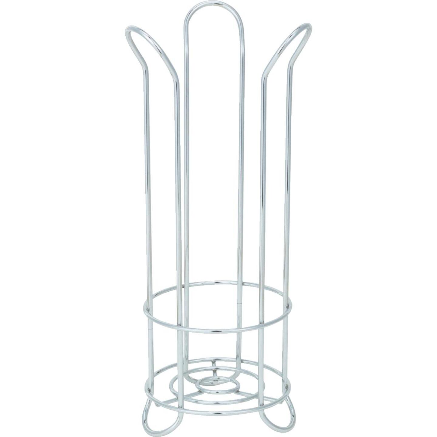InterDesign Forma Chrome Tulip Freestanding Toilet Paper Holder Image 2