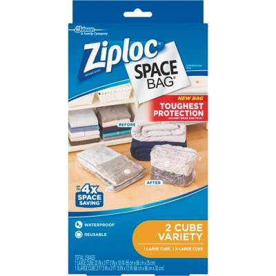 Ziploc Vacuum Seal Cube Combo Space Bag, (2-Pack)