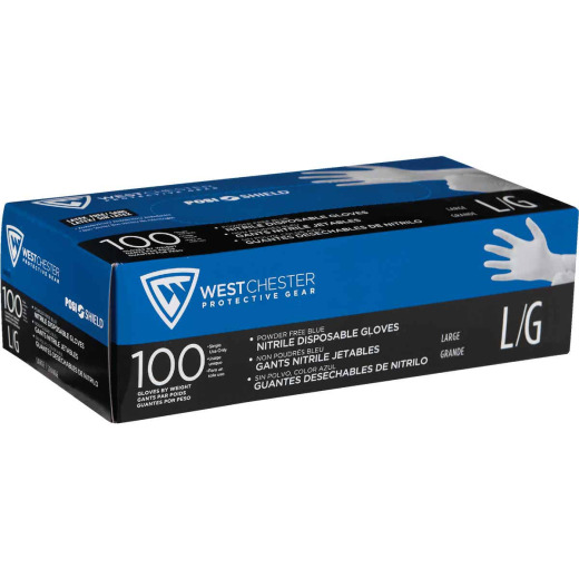 West Chester Protective Gear Posi Shield Large Nitrile Disposable Glove (100-Pack)