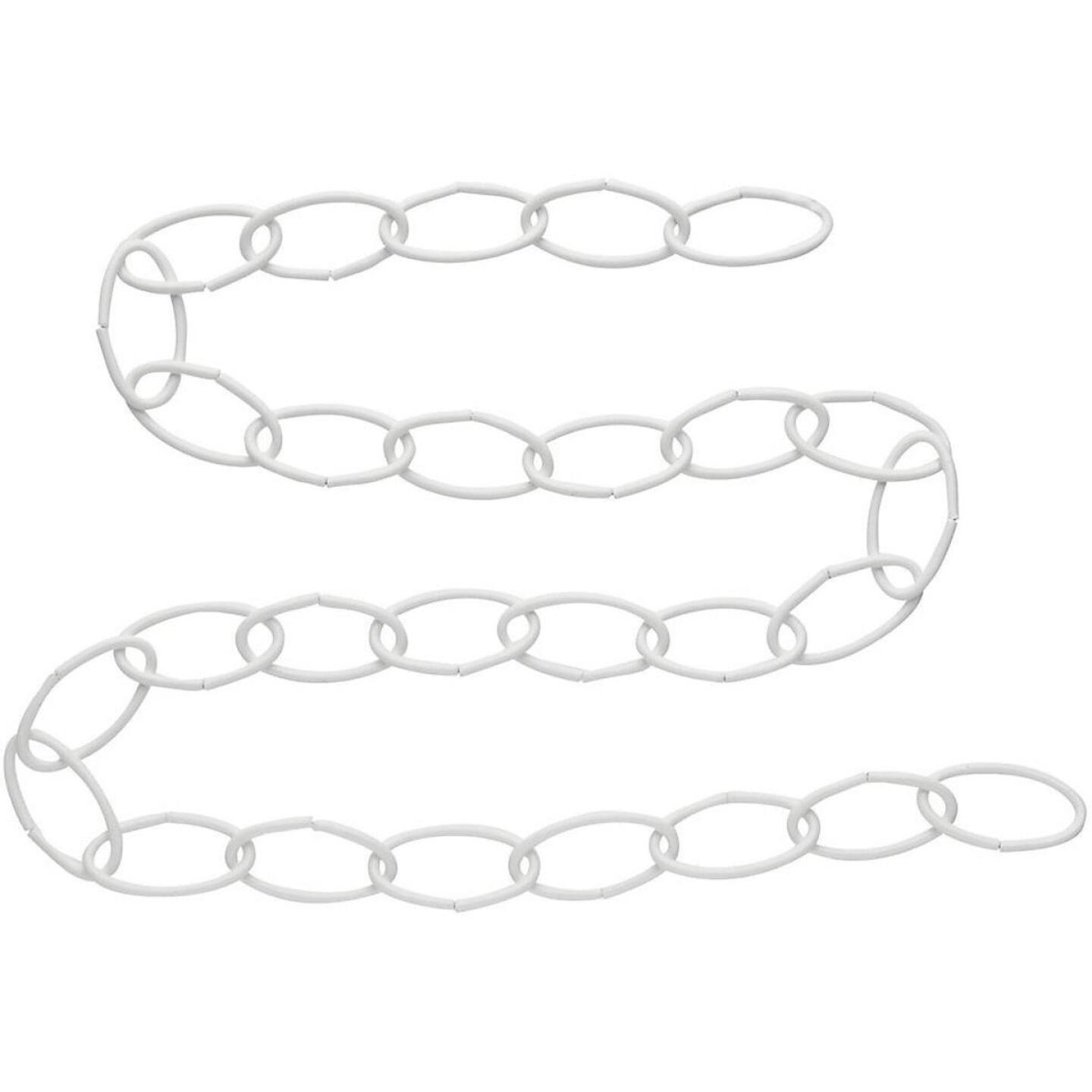 National 36 In. White Metal Hanging Plant Extension Chain Image 1