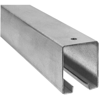 National 10 Ft. Galvanized Box Rail Barn Door Rail