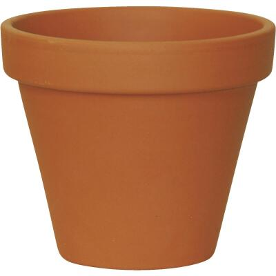 Ceramo 3-3/4 In. H. x 4-1/2 In. Dia. Terracotta Clay Standard Flower Pot
